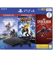 PlayStation 4 500GB + 3 Games (Horizon Zero Dawn + Spider Man + Ratchet & Clank)