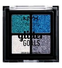 NYX Professional Makeup - Glitter Goals Cream Quad Palette - Glacier