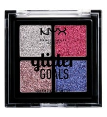 NYX Professional Makeup - Glitter Goals Cream Quad Palette - Love On Top