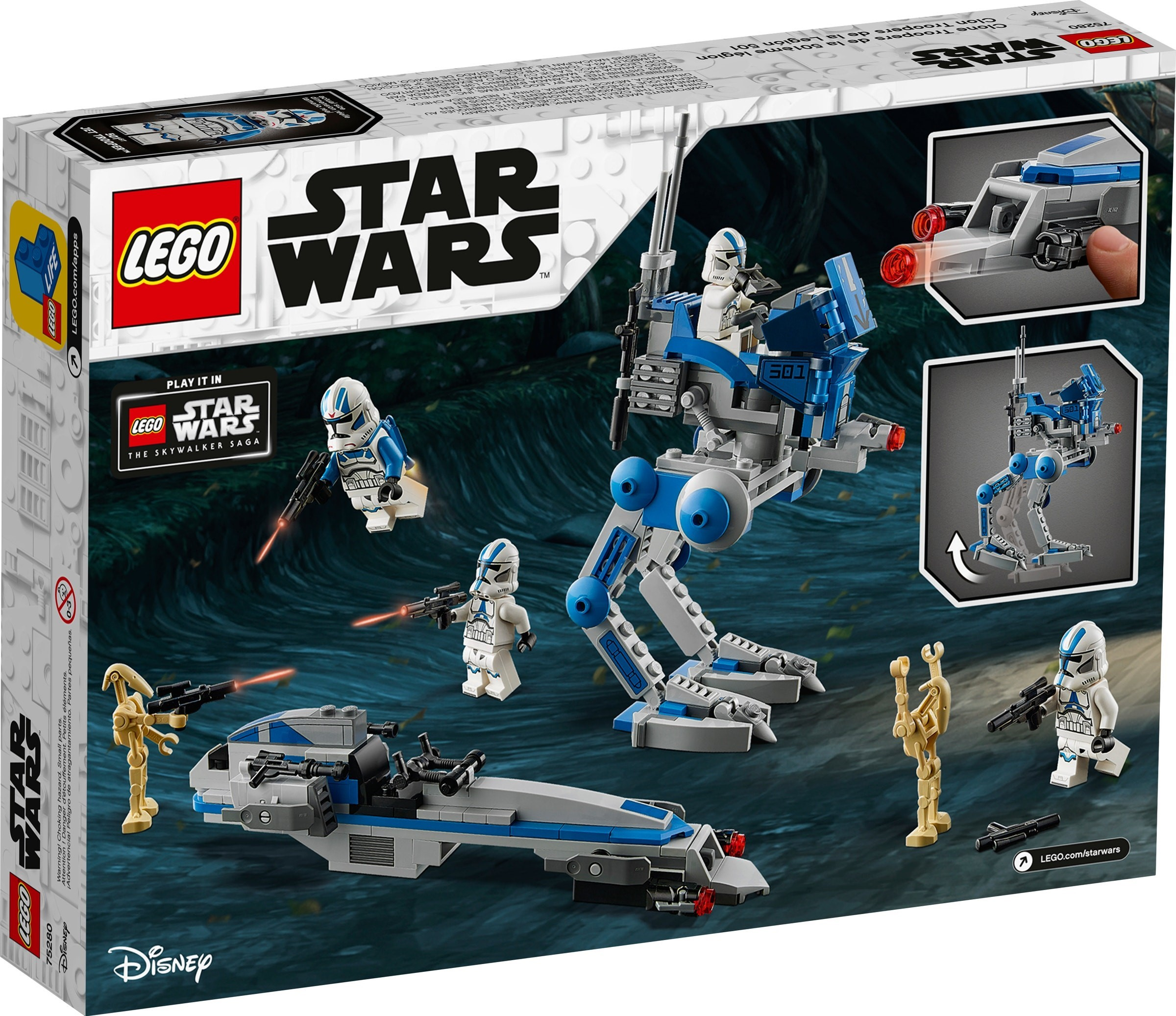 75280 NO CLONES! Droids And Instructions LEGO STAR WARS 501st Legion Vehicles