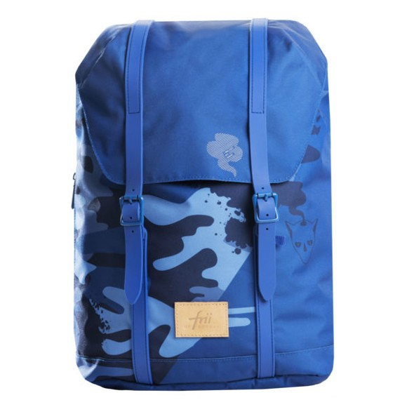 Frii of Norway - School Bag 30 L - Blue camo (20200)