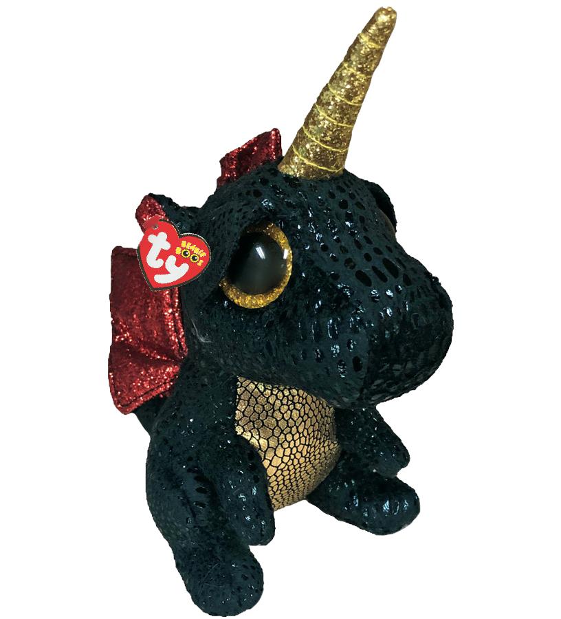Ty Plush - Beanie Boos - Grindal the Dragon with Horn (Medium) (TY36457)