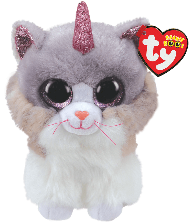 Ty Plush - Beanie Boos - Asher the Cat with Horn (Medium) (TY36477)