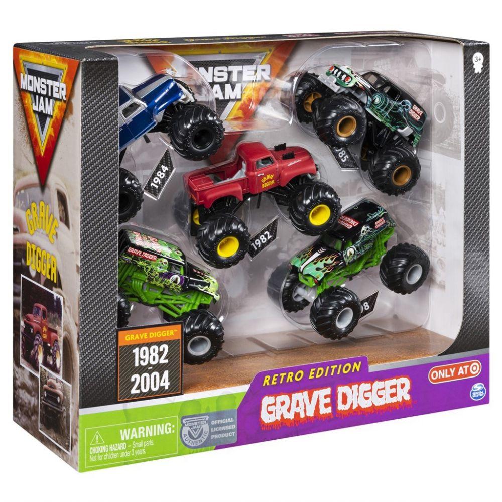 Monster Jam - Grave Digger Evolution 5pk (6053739)