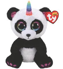 Ty Plush - Beanie Boos - Paris the Panda (Medium) (TY36478)