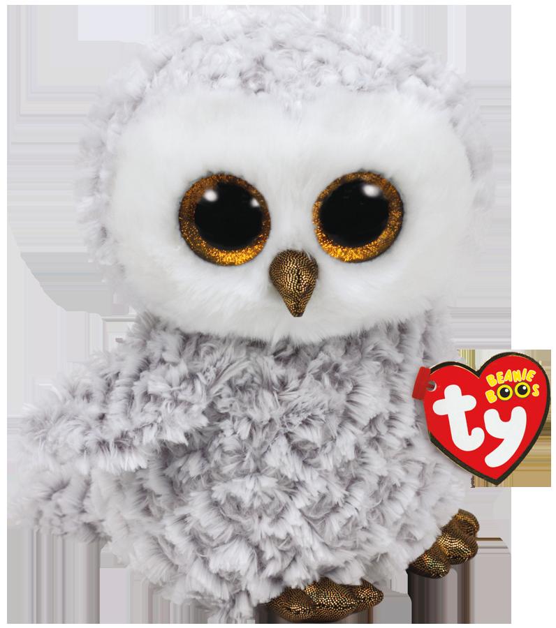 Ty Plush - Beanie Boos - Owlette the White Owl (Medium)(TY37086)