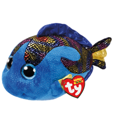 Ty Bamse - Beanie Boos - Den Blå Fisk Aqua (Medium)