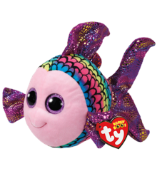 Ty Plush - Beanie Boos - Flippy the Multicolored Fish (Medium) (TY37150)