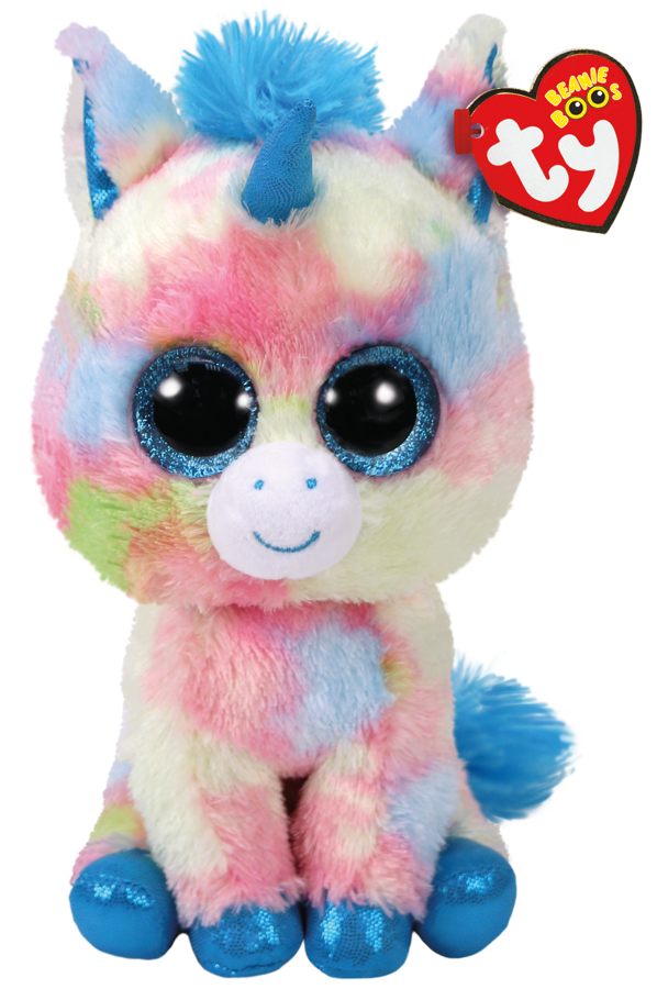 Ty Plush - Beanie Boos - Blitz the Blue Unicorn (Medium) (TY37261)