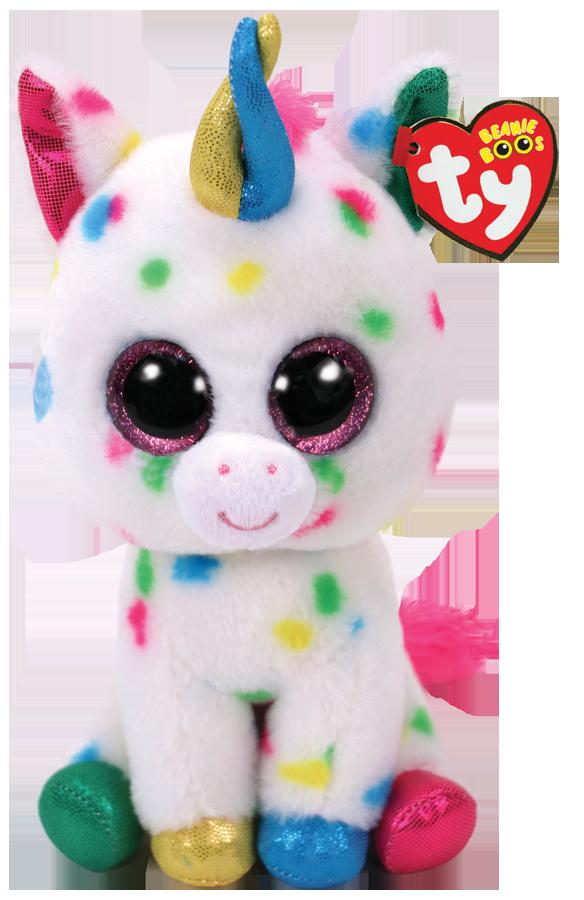 Ty Plush - Beanie Boos - Harmonie the Speckle Unicorn (Medium) (TY37266)