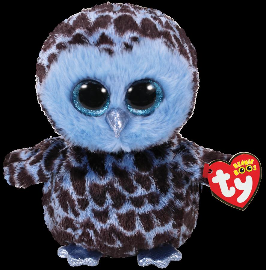 Ty Plush - Beanie Boos - Yago the Blue Owl (Medium) (TY37267)