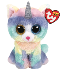Ty Bamse - Beanie Boos - Katten Heather (Large)