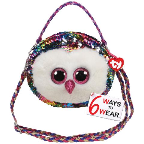 Ty Plush - Sequin Purse - Owen the Owl (TY95123)
