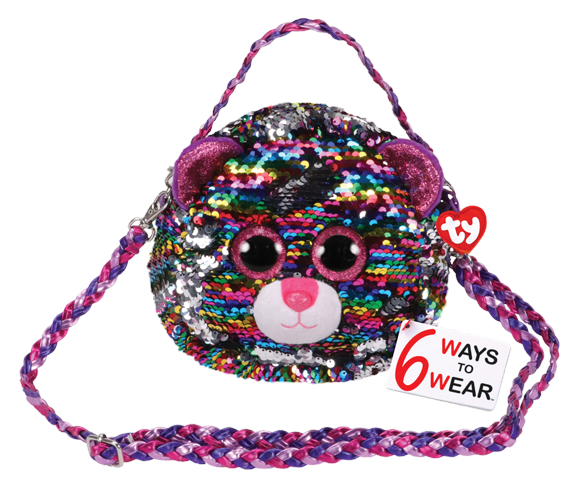 Ty Plush - Sequin Purse - Dotty the Leopard (TY95124)