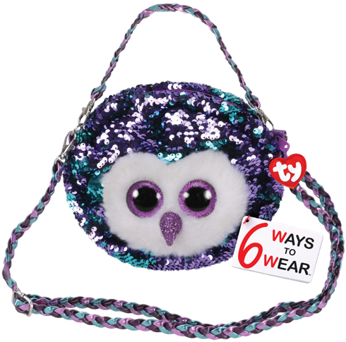 Ty Plush - Sequin Purse - Moonlight the Owl(TY95126)