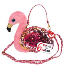 Ty Bamse - Lille Paillet Taske - Flamingoen Gilda