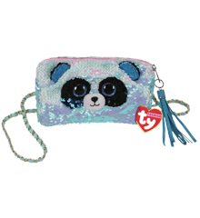 Ty Plush - Sequin Square Purse - Bamboo the Panda (TY95142)