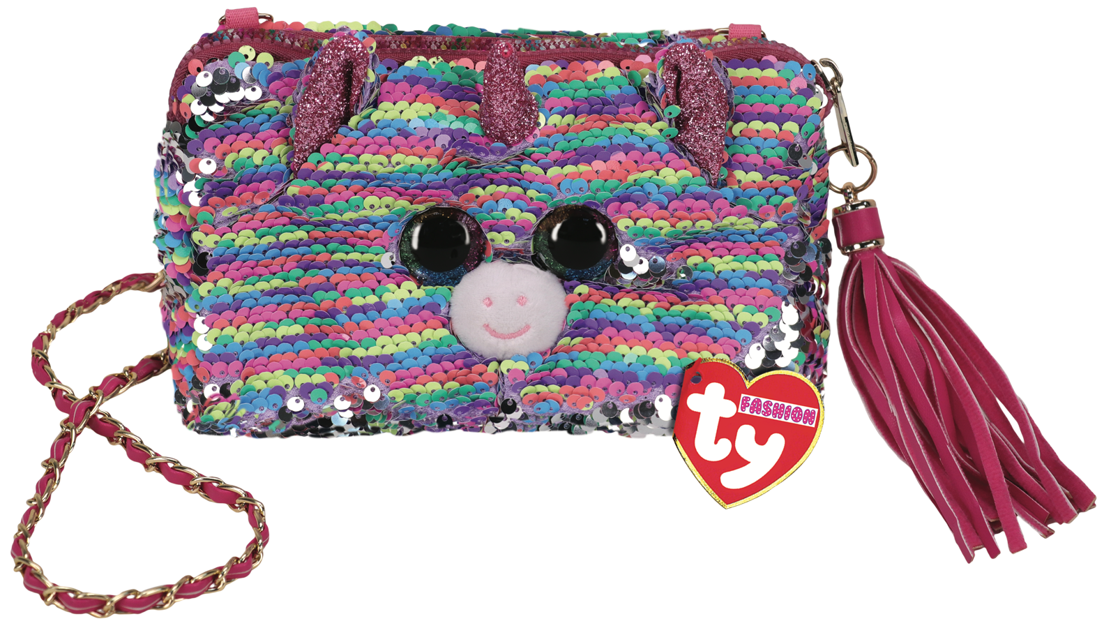 Ty Plush - Sequin Square Purse - Elise the Rainbow Unicorn (TY95143)