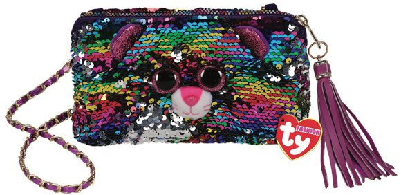 Ty Plush - Sequin Square Purse - Dotty the Leopard (TY95145)