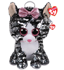 Ty Plush - Sequin Backpack - Kiki the Cat (TY95020)