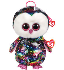 Ty Plush - Sequin Backpack - Owen the Owl (TY95023)