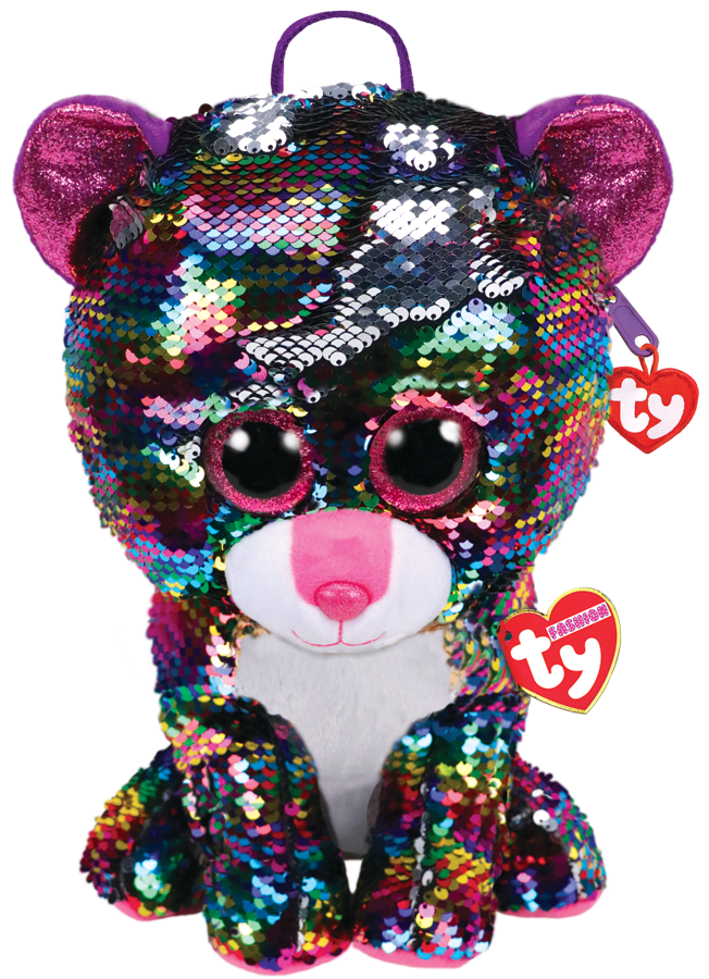 Ty  Plush - Sequin Backpack - Dotty the Leopard (TY95024)