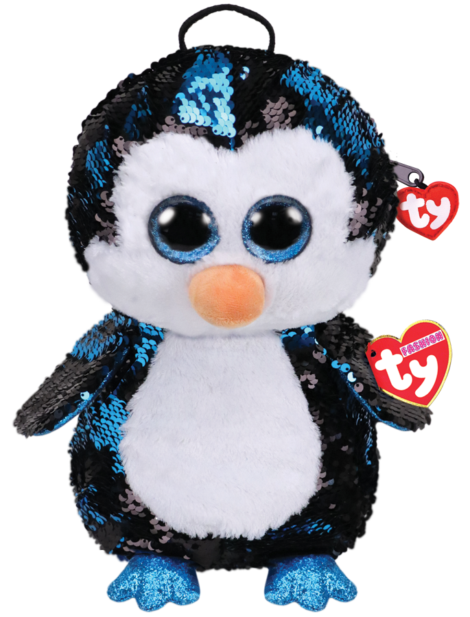 Ty  Plush - Sequin Backpack - Waddles the Penguin (TY95029)
