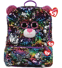 Ty Plush - Sequin Square Backpack - Dotty the Leopard (TY95045)