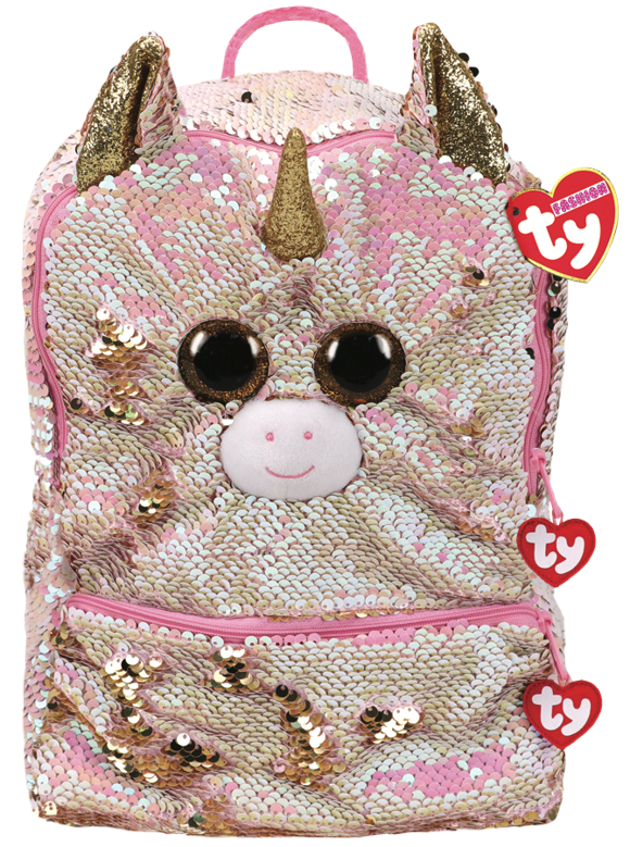 Ty Plush - Sequin Square Backpack - Fantasia the Unicorn (TY95056)