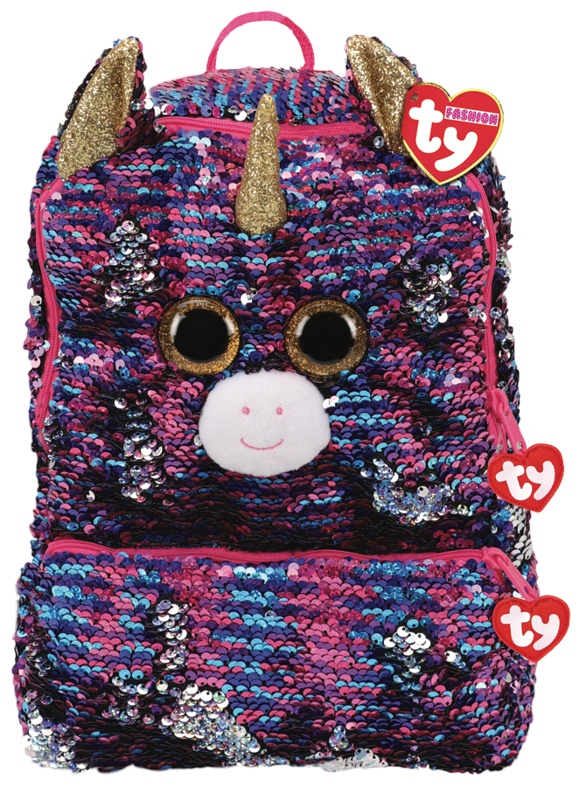 Ty Plush - Sequin Square Backpack - Rosette the Unicorn (TY95058)