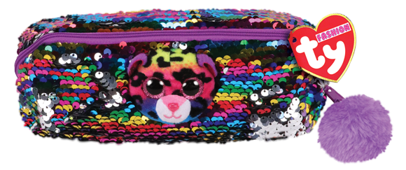 Ty Plush - Sequin Pencil Case - Dotty the Leopard (TY95850)