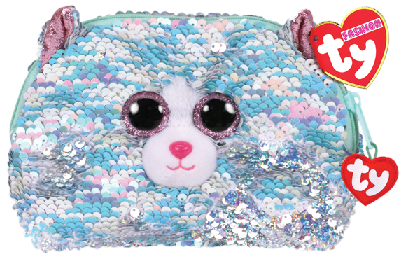 TY Plush - Sequin Accessory Bag - Whimsy the Cat (TY95823)