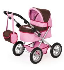Bayer - Dolls Pram - Trendy - Pink/Brown (13063AA)