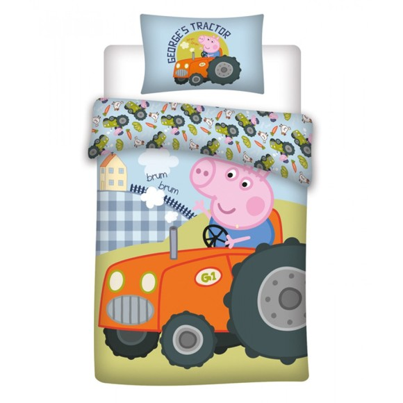 Bed Linen - Junior Size 100 x 140 cm - George Pig (100081-01)
