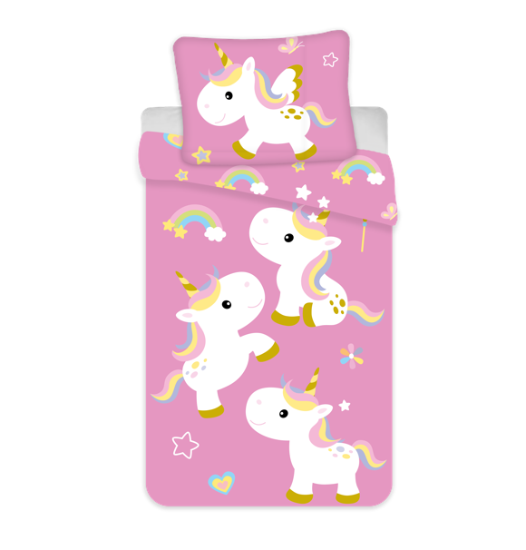 Bed Linen - Adult Size 140 x 200 cm -  Unicorn (1000324)