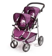 Bayer - Twin Pram - Purple (26537AA)
