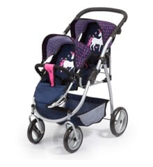 Bayer - Twin Pram - Navy (26554AA)