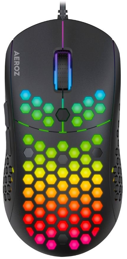 Bilde av Aeroz - Gm-1000 Black - Rgb Lightweight Gaming Mouse