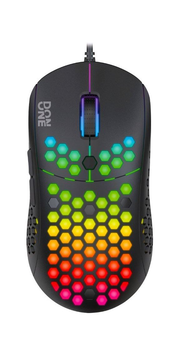 DON ONE - GM200 BLACK - RGB LIGHTWEIGHT GAMING MOUSE