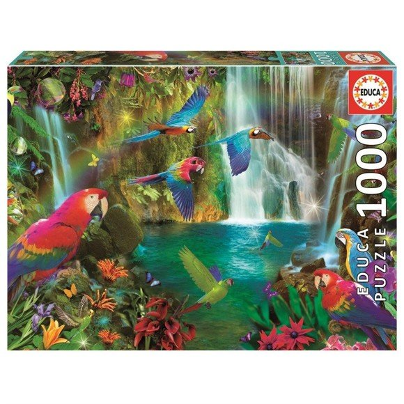 Educa - Puzzle 1000 - Tropical Parrots (018457)
