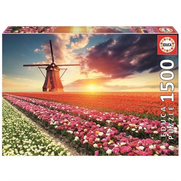 Educa - Puzzle 1500 - Tulips Landscape (017664)