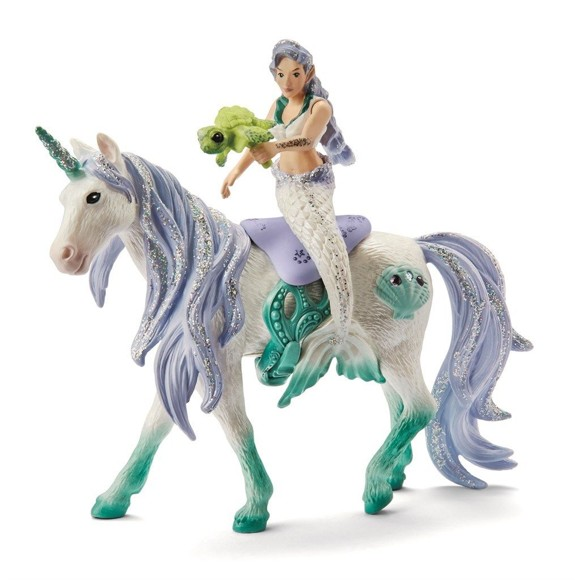 Schleich - Mermaid riding on sea unicorn (42509)