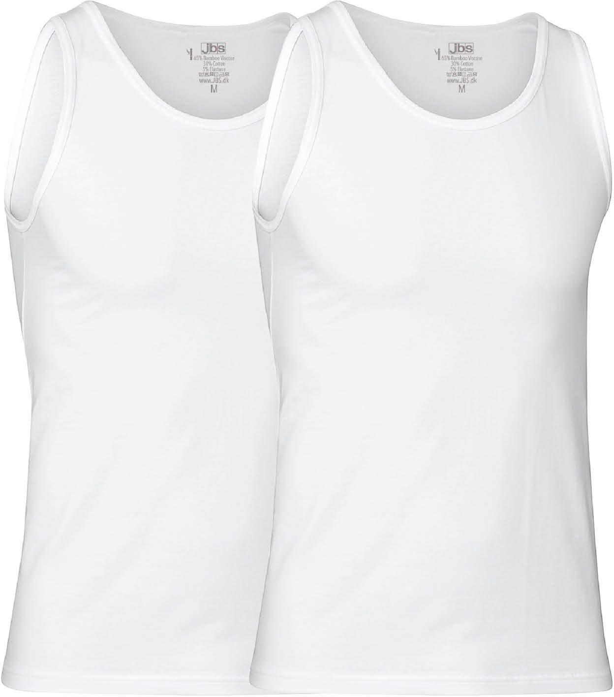 JBS - 2-pack Singlet Bamboo White