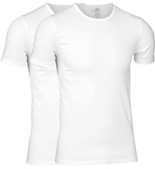 JBS - 2-pack O-Neck Bambus T-Shirt Hvid