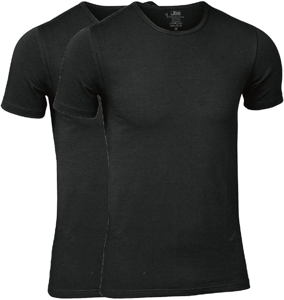 JBS - 2-pack O-Neck Bambus T-Shirt Sort
