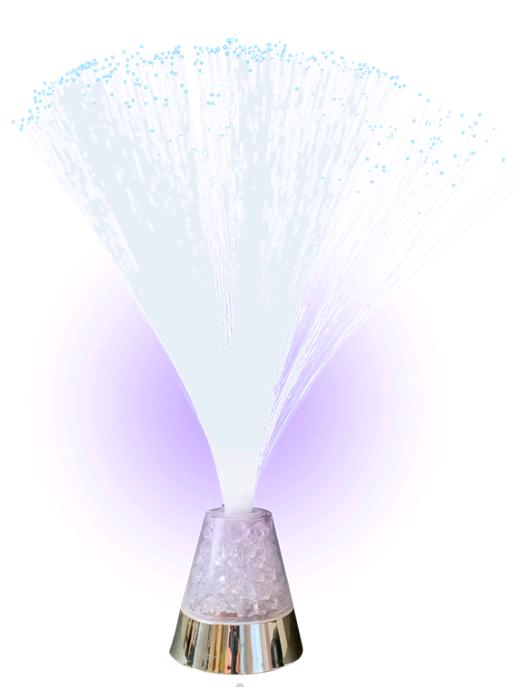 Music - Ice Flake Fiber Lamp (501110)