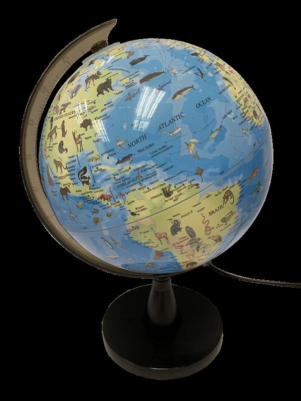 SCIENCE – Globus med Dyr og Lys 20 cm