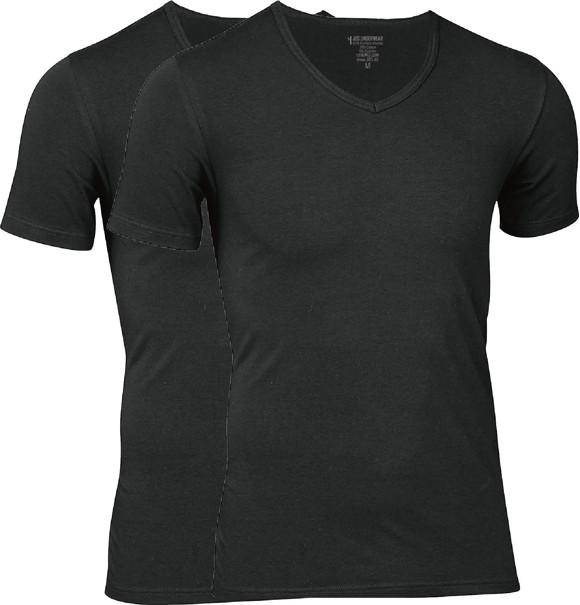 JBS - 2-pack V-Neck Bambus T-Shirt Sort