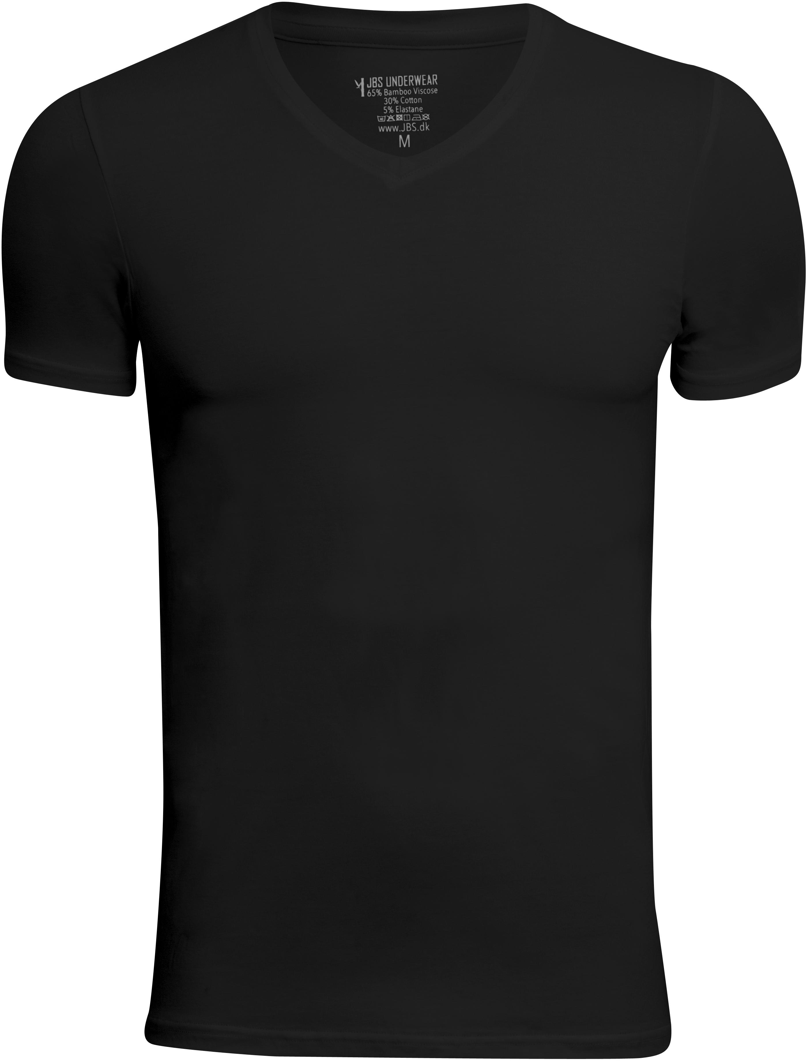 JBS - 2-pack V-Neck Bamboo T-Shirt Black