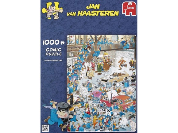 Jan Van Haasteren - On the assembly line - 1000 Piece Puzzle (81453F)